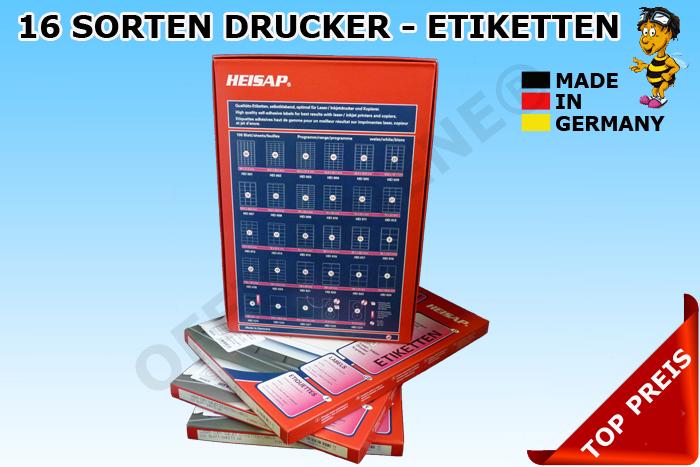 Bine156-DIN-A4-HEISAP-DRUCKER-ETIKETTEN-LABEL-AUFKLEBER-CD-DVD-DHL-DPD-GLS-POST